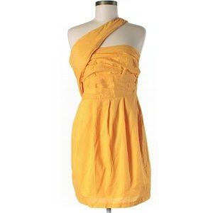 ASOS Orange One Shoulder Dress